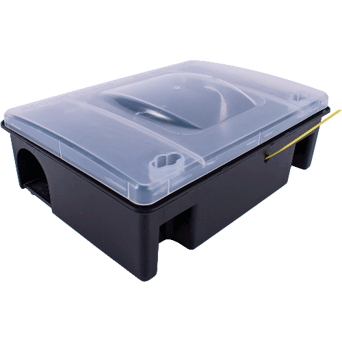 EUR palle plast depot - transparent låg inkl. Snap-Trap rottefælde og indikator-strip